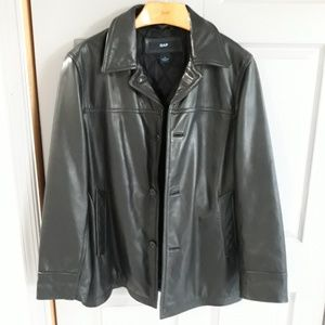 Gap Leather Pea Coat. Excellent. Med.